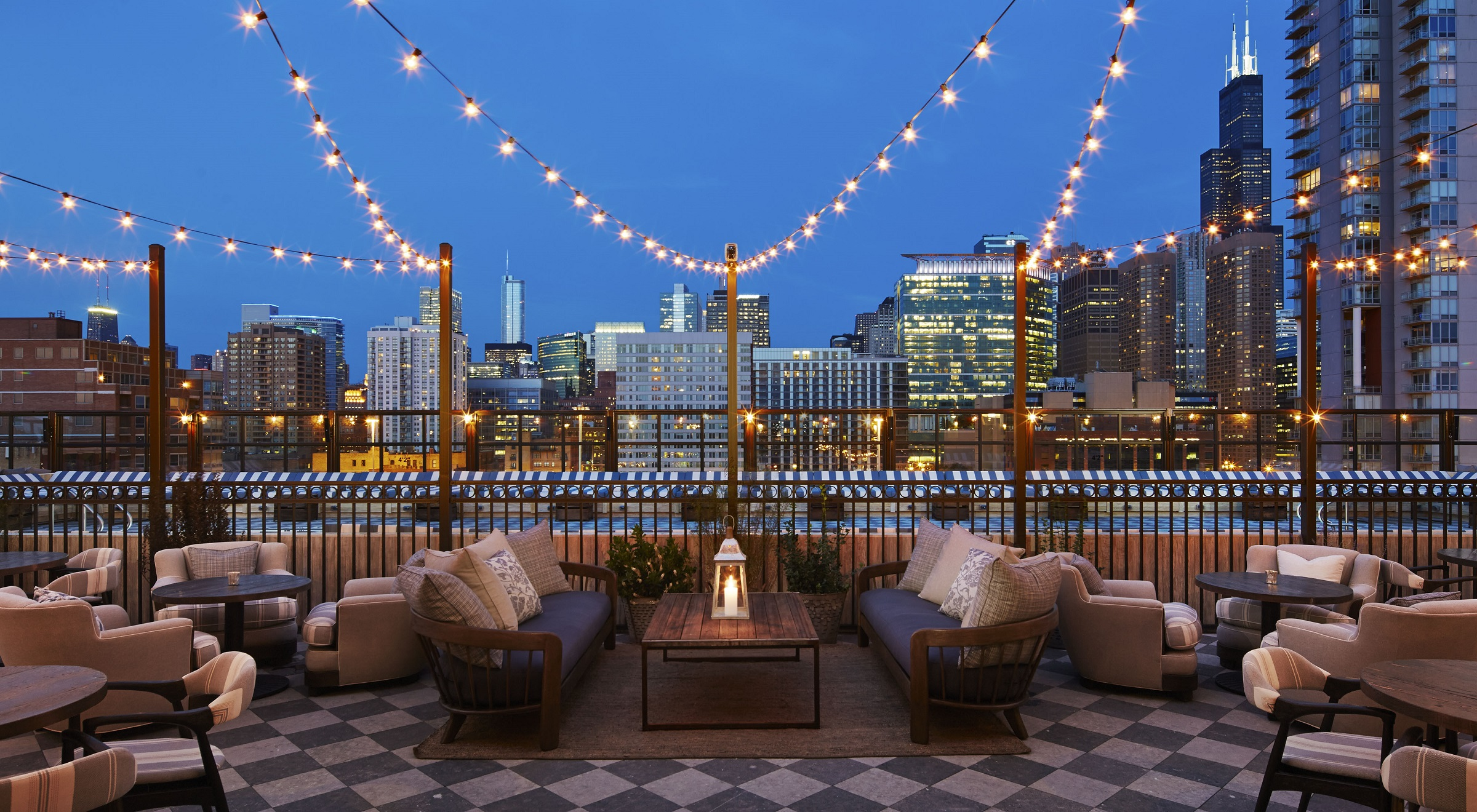 Soho House Chicago_Rooftop of Members House_photo credit is Dave Burk of Hedrich Blessing