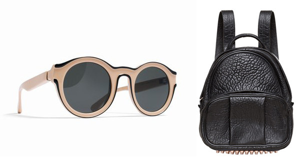 Alexander Wang Backpack, Mykita + MMM Sunglasses