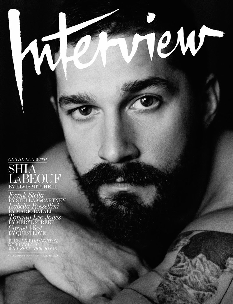 Shia LaBeouf for Interview Magazine Cover