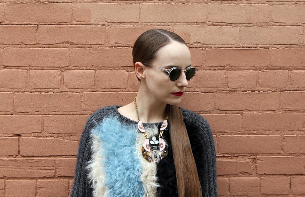 Toronto Fashion Week Outfit 2014 Miista, Moscot, J.Crew, Ela