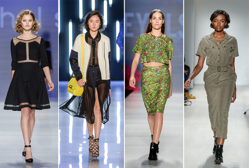 Hayley Elsaesser, Mackage, Rachel Sin, & Klaxon Howl SS 2015 at Toronto Fashion Week
