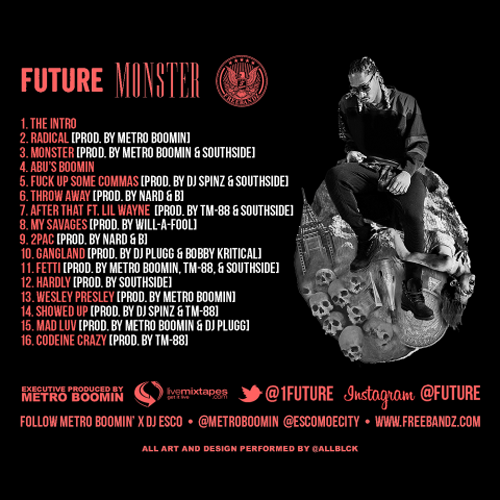 Future Monster Mixtape Back