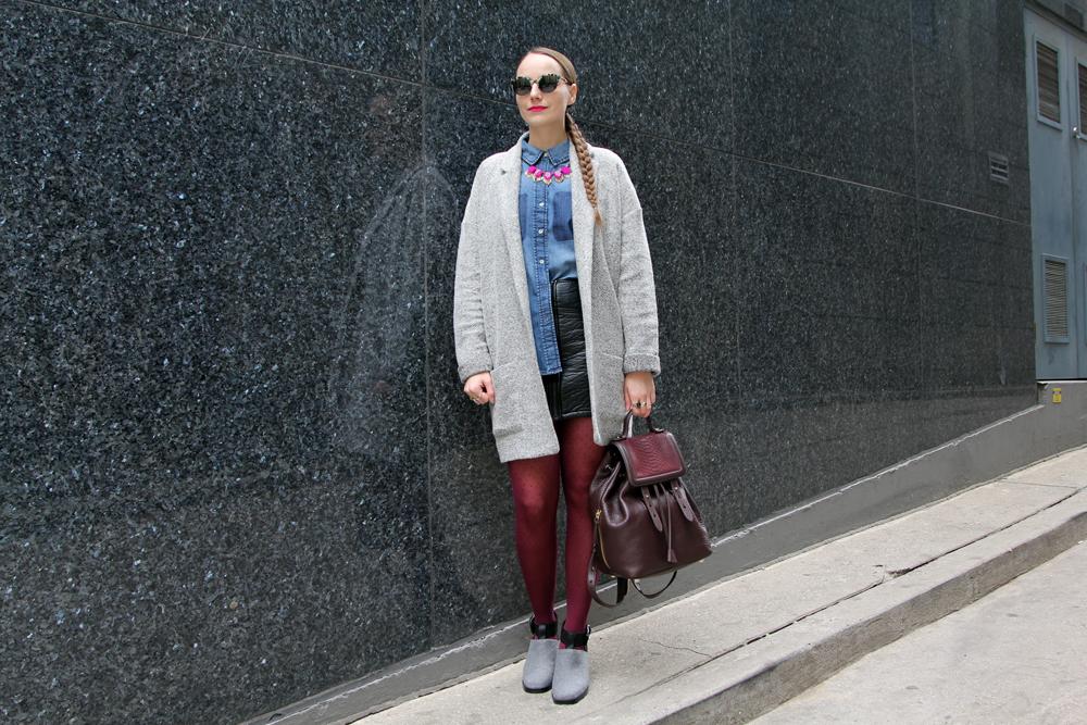 Street Style Cozy Fall Textures Hawley Dunbar