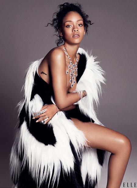 Rihanna for ELLE December 2014-2