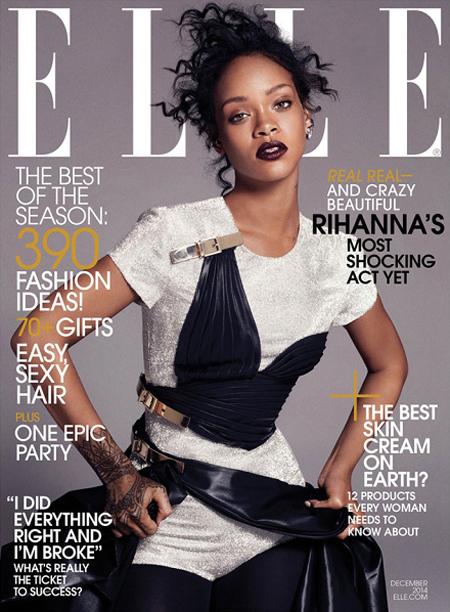 Rihanna for ELLE December 2014 Cover