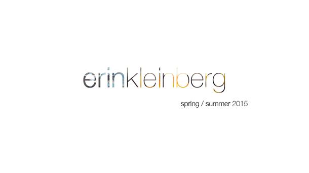 Erin Kleinberg Spring Summer 2015
