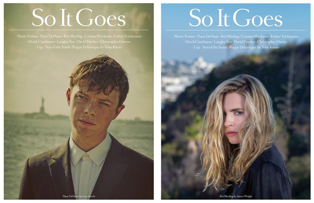 Brit Marling & Dane DeHaan for So It Goes Magazine UK No.4
