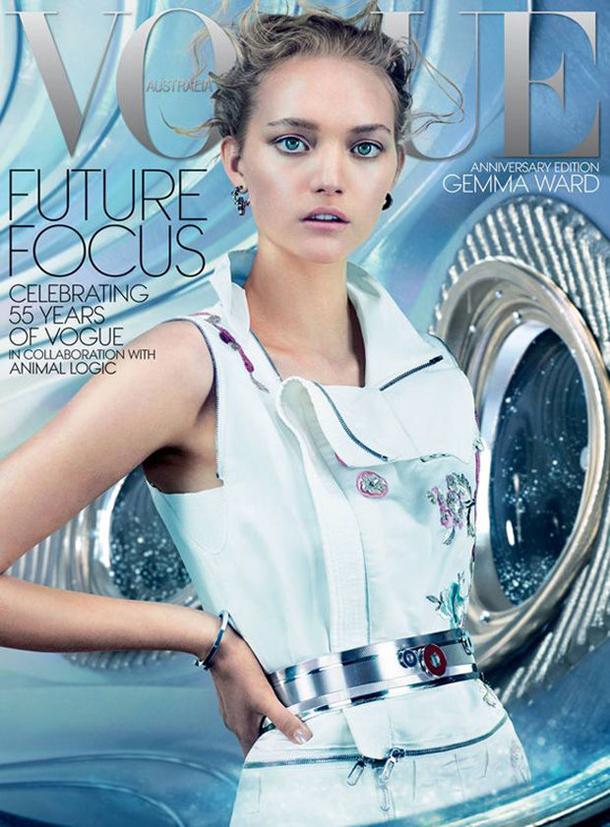 Gemma Ward for Vogue Australia December 2014 cover