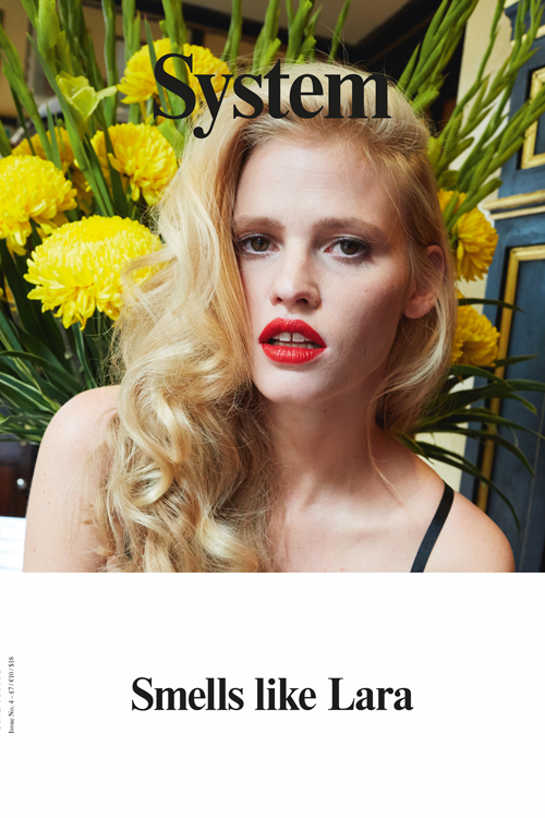 Lara Stone Post-Baby Editorial for System Magazine cover