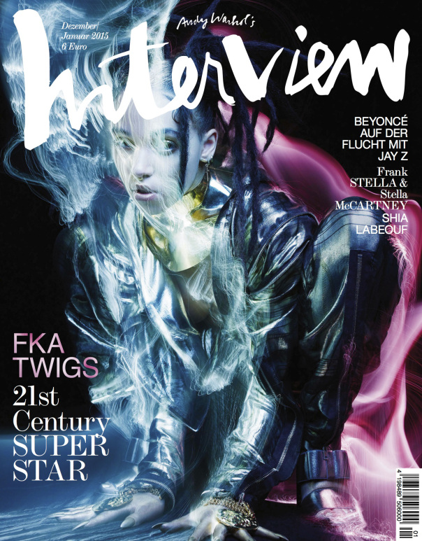 FKA Twigs for Interview Magazine Germany December 2014:January 2015