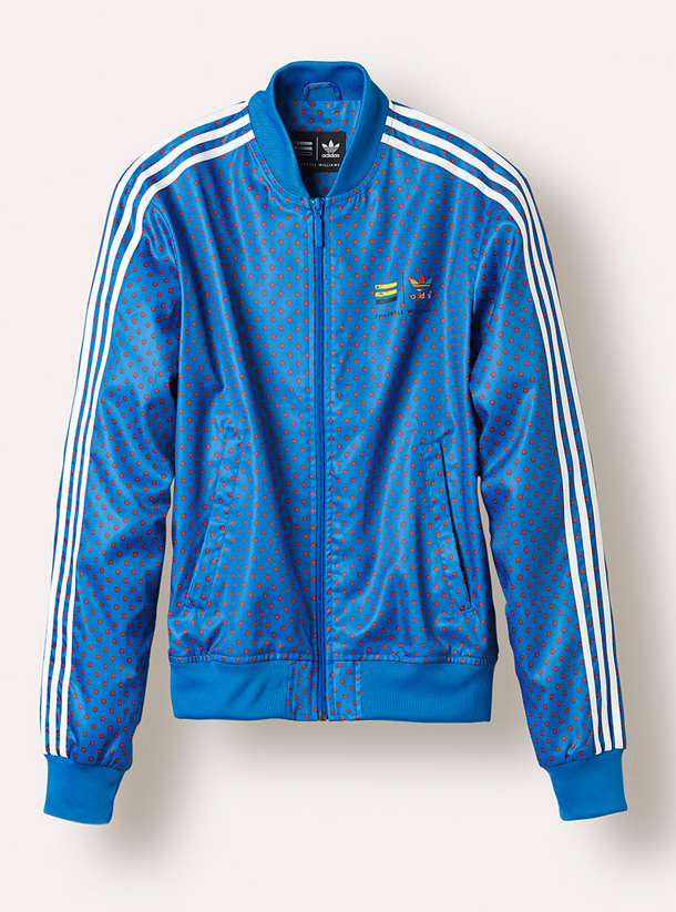 adidas Originals PHARRELL WILLIAMS Polka Dot Pack-Jacket Blue