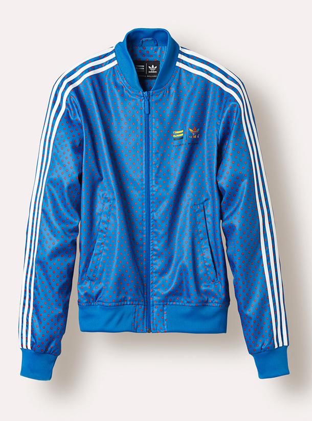 adidas Originals PHARRELL WILLIAMS Polka Dot Pack-Jacket Blue