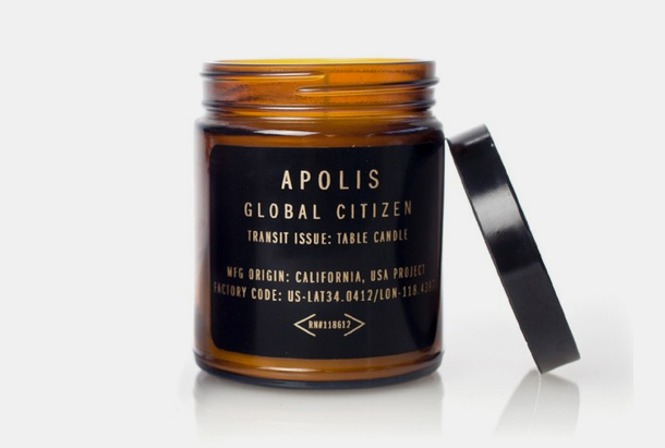 Apolis Transit Issue Table Candle in Cypress Fig