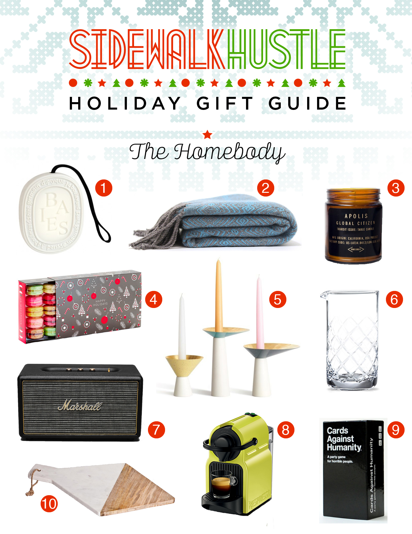 Sidewalk Hustle Holiday Gift Guide 2014 - The Homebody