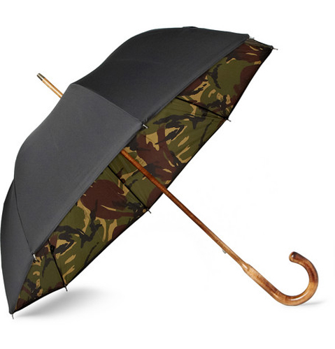 LONDON UNDERCOVER -MAPLE-HANDLED CAMOUFLAGE-LINED UMBRELLA