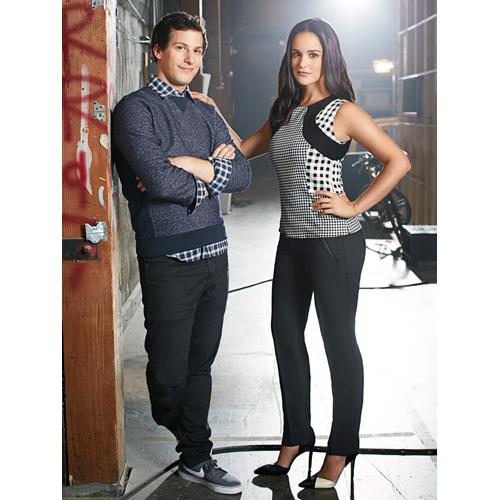 Melissa Fumero & Andy Samberg of Brooklyn Nine-Nine for Good Housekeeping January 2015-4