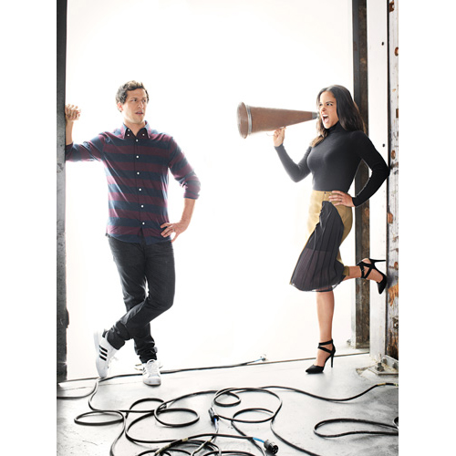 Melissa Fumero & Andy Samberg of Brooklyn Nine-Nine for Good Housekeeping January 2015-5