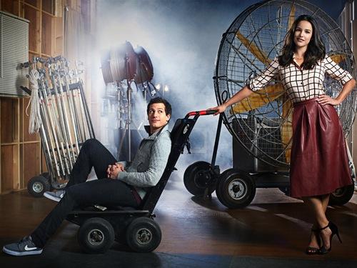 Melissa Fumero & Andy Samberg of Brooklyn Nine-Nine for Good Housekeeping January 2015