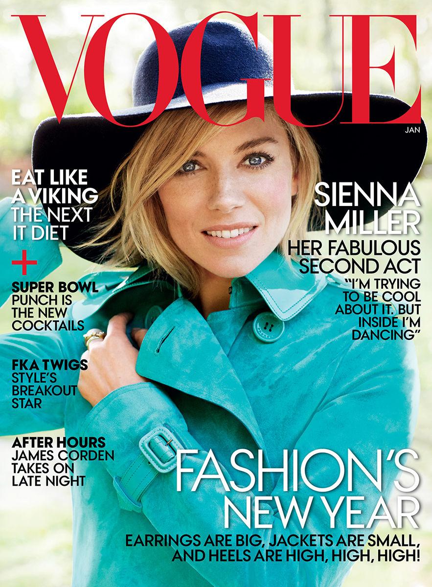 Sienna Miller for Vogue Magazine January 2015