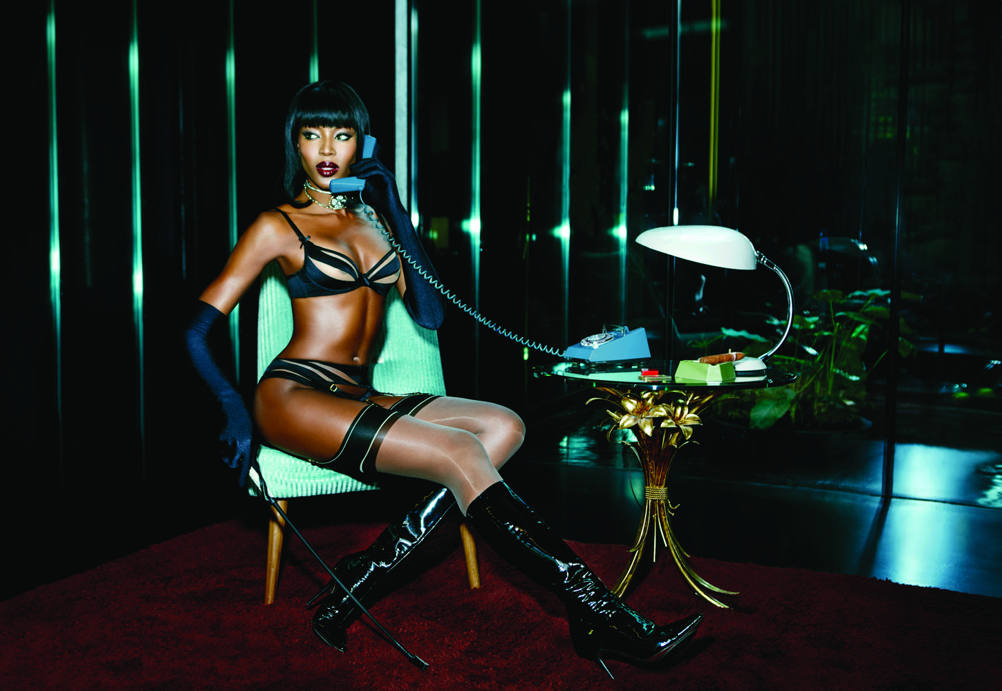 Naomi Campbell for Agent Provocateur Spring 2015-6