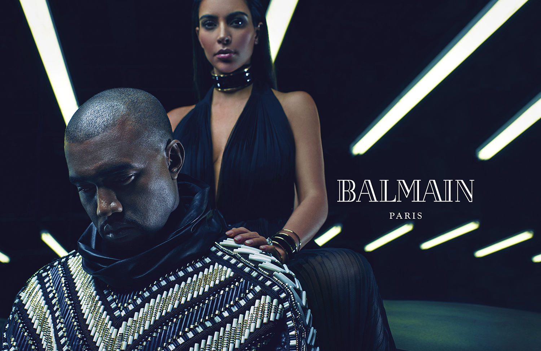 Kanye West & Kim Kardashian for Balmain Spring Summer 2015-2