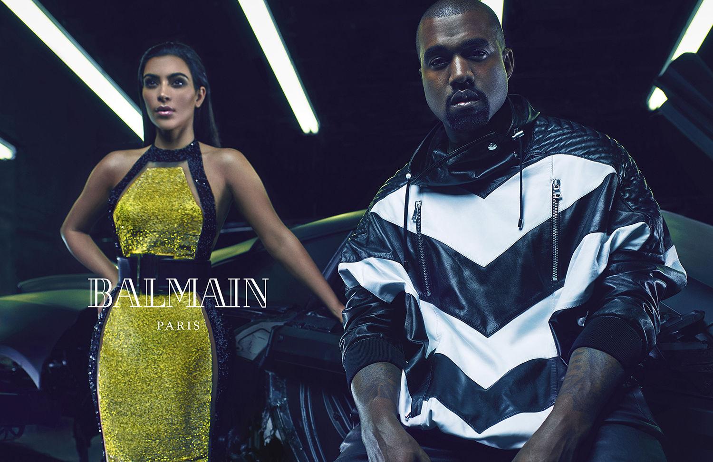 Kanye West & Kim Kardashian for Balmain Spring Summer 2015-3