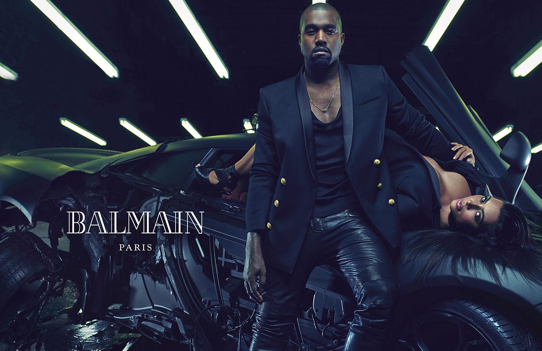 Kanye West & Kim Kardashian for Balmain Spring Summer 2015
