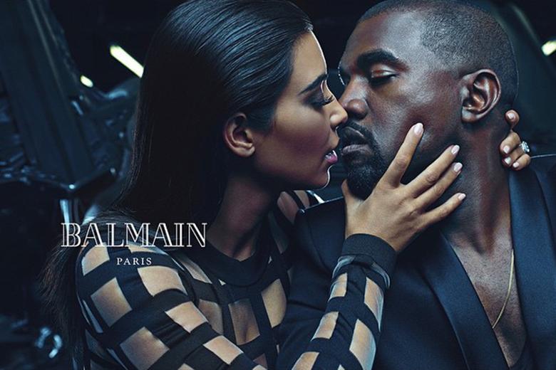Kanye West & Kim Kardashian for Balmain Spring:Summer 2015
