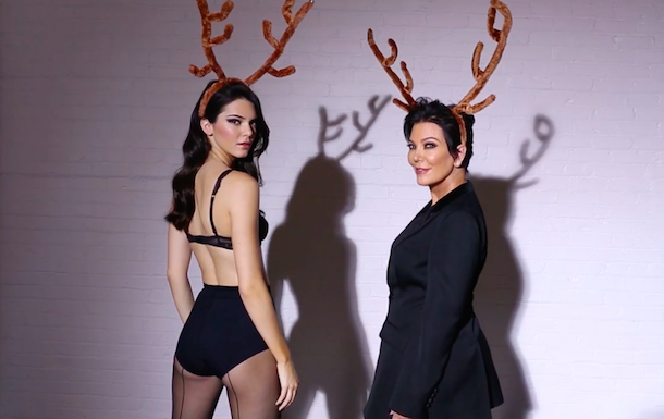 Kendall and Kris Jenner for Love Magazine's Advent Calendar 2014