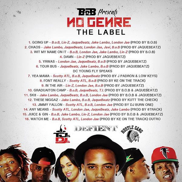 BoB No Genre The Label Mixtape back