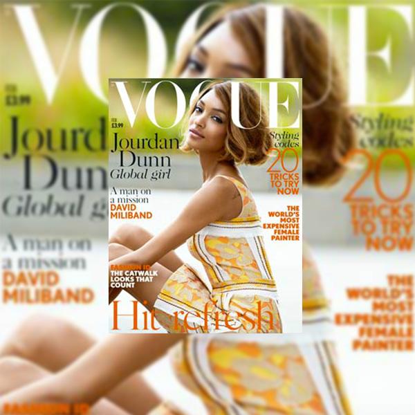 Jourdan Dunn for Vogue UK January 2014
