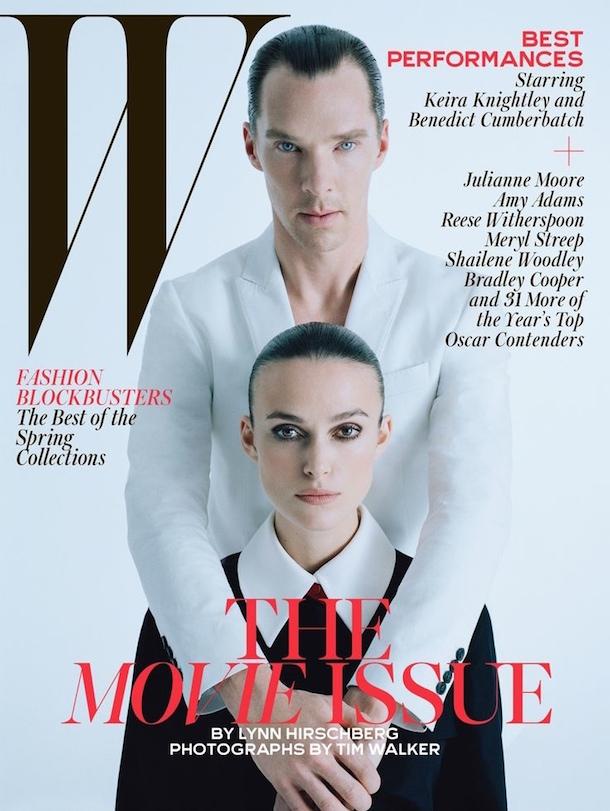 Kiera Knightley & Benedict Cumberbatch W Magazine Best Performances Issue February 2015