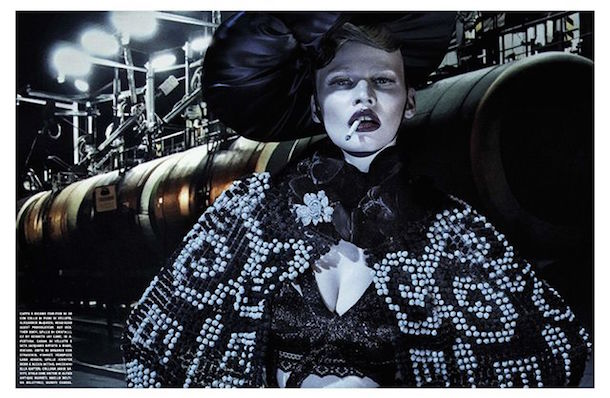 Lara Stone for Vogue Italia January 2015-2