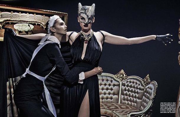 Lara Stone for Vogue Italia January 2015-6