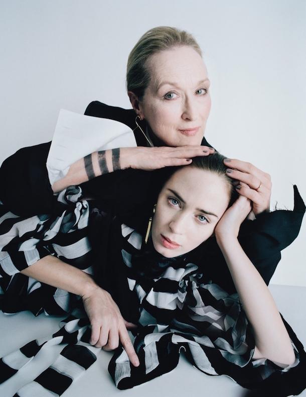 Meryl Streep and Emily Blunt W Magazine Best Performances Issue February 2015