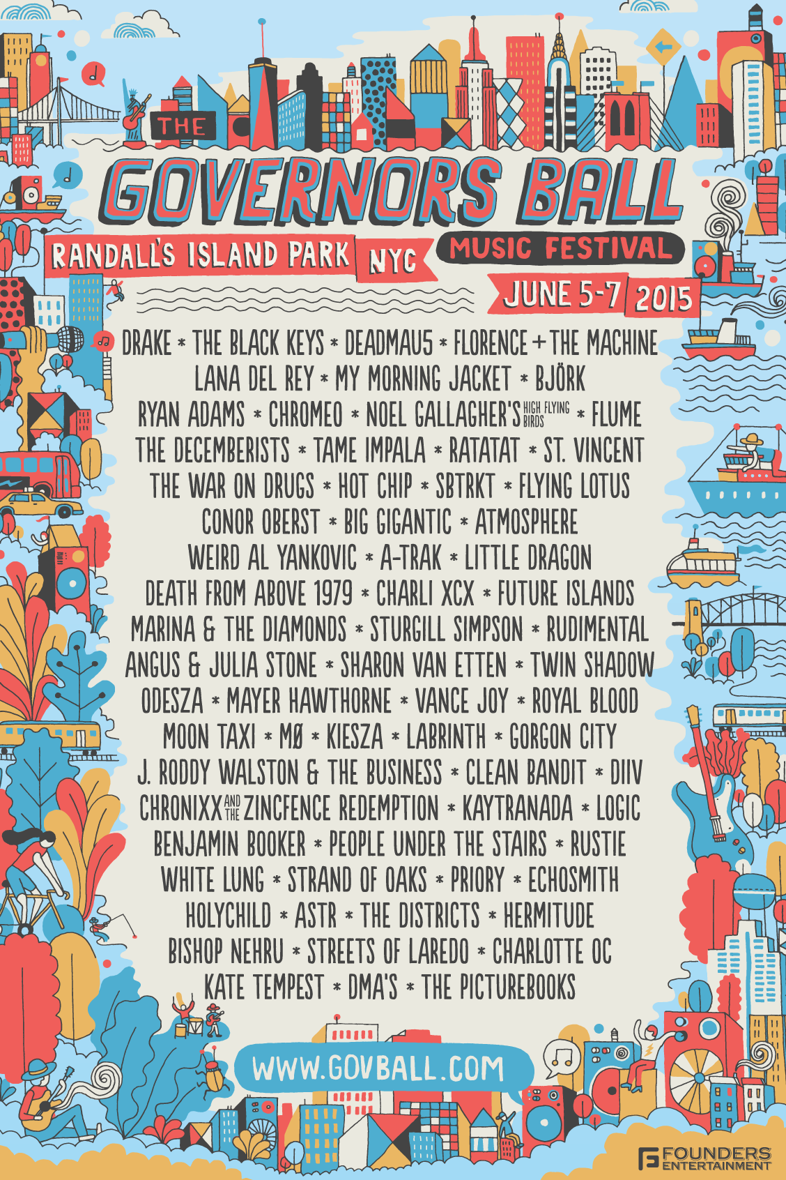 Governors Ball Music Festival 2015 Official Line-Up