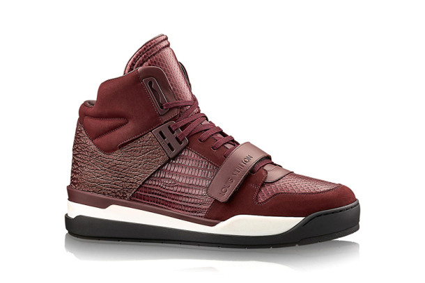 Louis Vuitton Trailblazer Sneaker Boot Red Leather