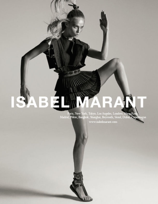 Natasha Poly for Isabel Marant Spring 2015-2