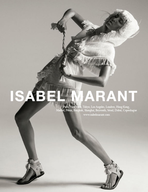 Natasha Poly for Isabel Marant Spring 2015-6