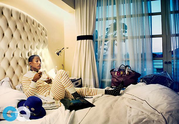 Pharrell February 2015 Cover of GQ 2