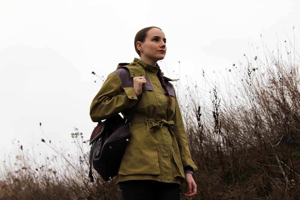 Rainy Winter Street Style Hunter Coat