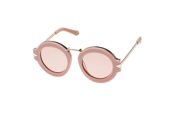 Karen Walker Maze Dusty Pink & Gold Sunglasses