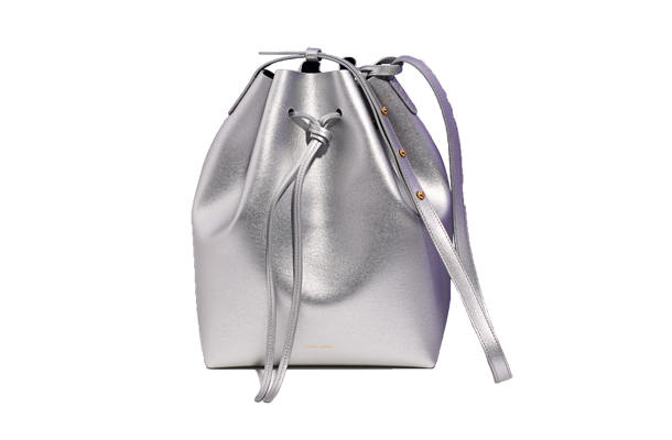 Mansur Gavriel Saffiano Leather Bucket Bag