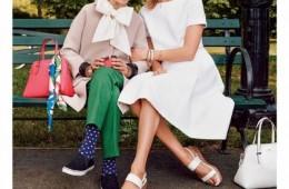 Karlie Kloss & Iris Apfel for Kate Spade Spring 2015