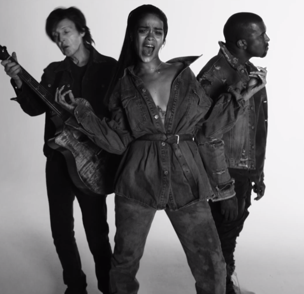 Rihanna FourFiveSeconds Kanye West Paul McCartney Video