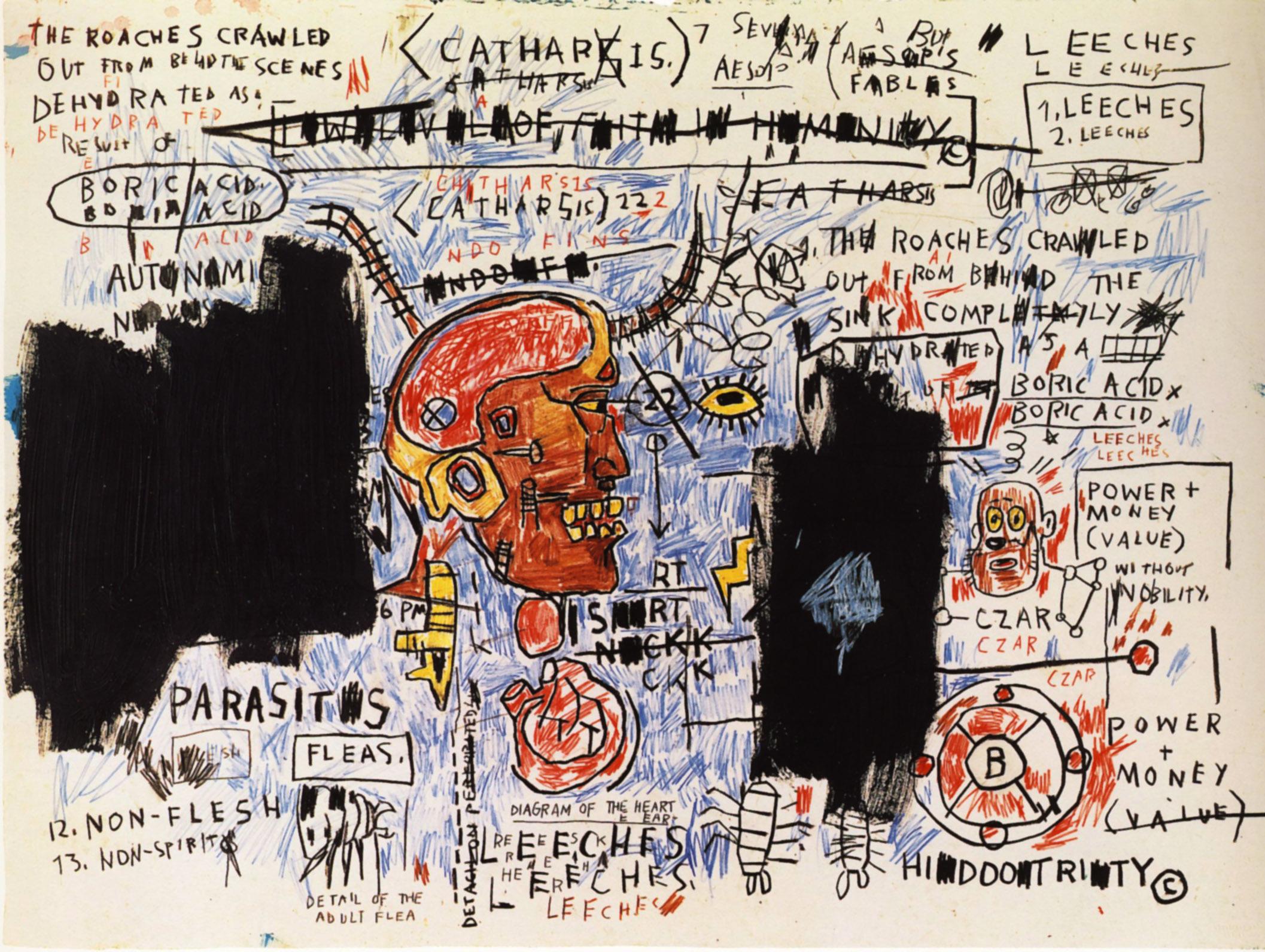 Jean-Michel-Basquiat-Nows-The-Time