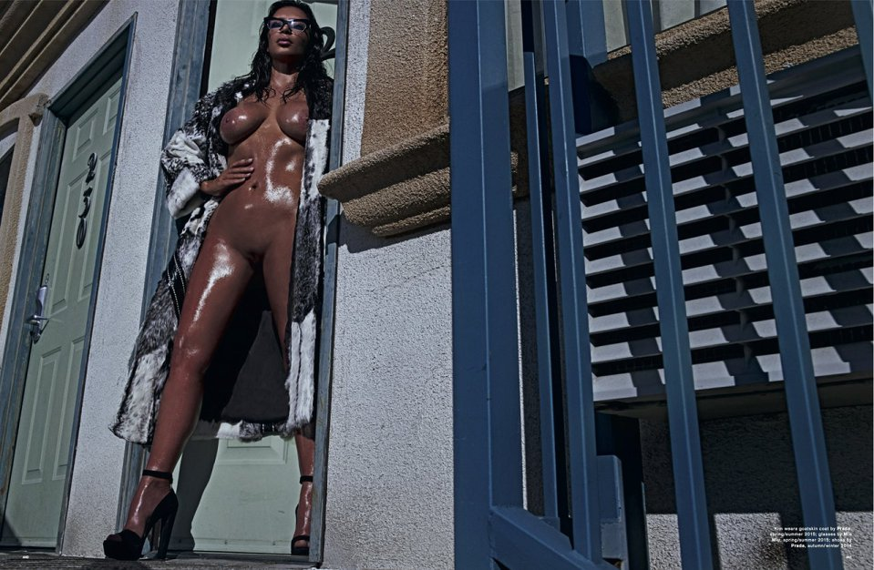 Kim Kardashian for LOVE Magazine SS 2015-3