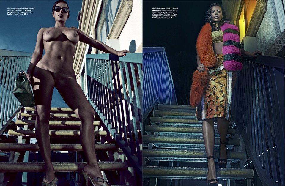 Kim Kardashian for LOVE Magazine SS 2015-4