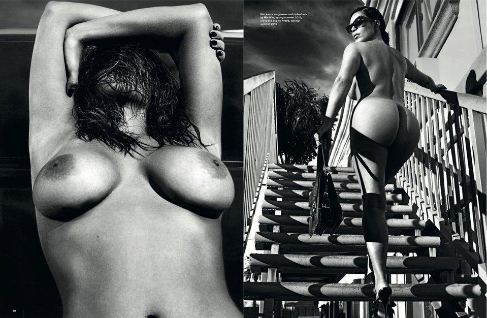 Kim Kardashian for LOVE Magazine SS 2015-6