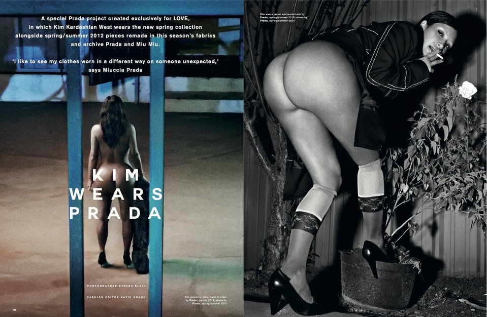 Kim Kardashian for LOVE Magazine SS 2015